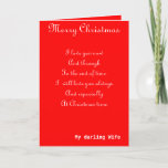 """My wife romantic Christmas greeting cards<br><div class=""""desc"""">Romantic Christmas greeting cards with dedication to a loving wife</div>"""