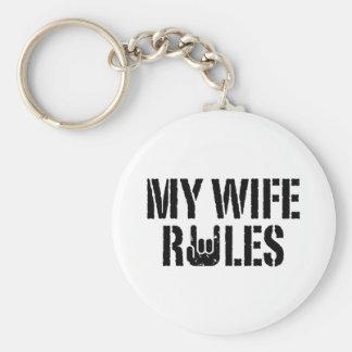 My Wife Rules Keychain