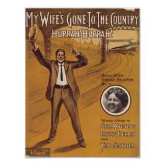 My Wife s Gone To The Country Vintage Songbook Cov Poster