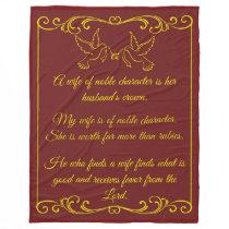 My Wife Wedding Blanket