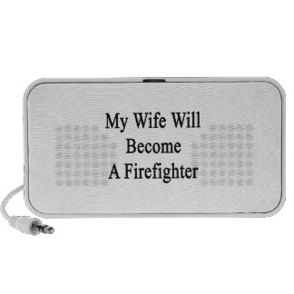 My Wife Will Become A Firefighter Laptop Speaker