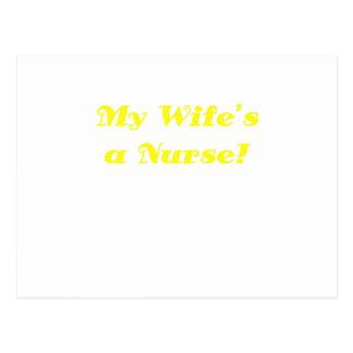 My Wifes a Nurse Postcard