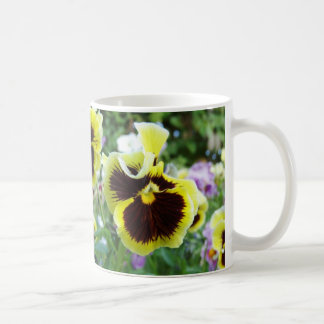 My wife's flower collection. Pansies. Coffee Mug