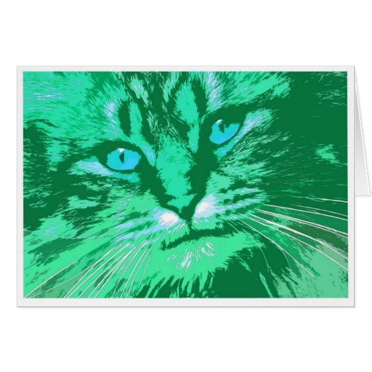 My Wild Irish Tabby Card