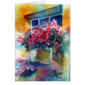 My Window garden Greeting Card