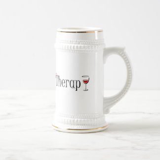 My (Wine) Therapy Beer Stein