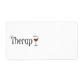 My (Wine) Therapy Label