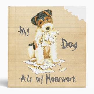 My Wire Fox Terrier Ate My Homework 3 Ring Binder