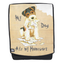 My Wire Fox Terrier Ate My Homework Backpack