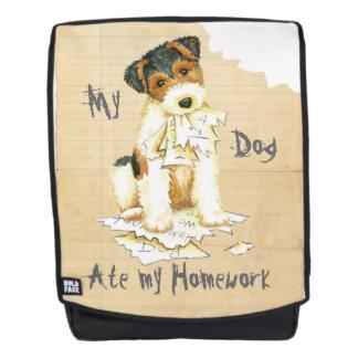 My Wire Fox Terrier Ate My Homework Backpack