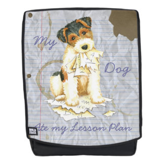 My Wire Fox Terrier Ate My Lesson Plan Backpack