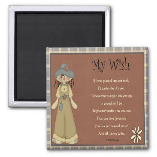 My Wish 2 Inch Square Magnet