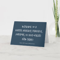 My Wish for 2021 | Blue Happy New Year Holiday Card