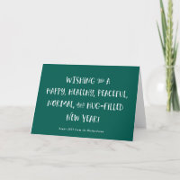 My Wish for 2021 | Green Happy New Year Holiday Card