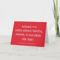 My Wish for 2021 | Red Happy New Year Holiday Card