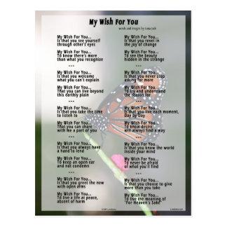 My Wish For You (original version) Postcard