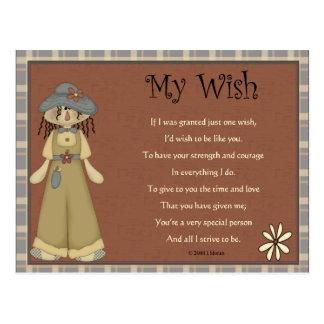 My Wish Keepsake Card Postcard