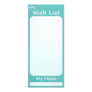 My Wish List - Turquoise Card