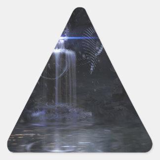 My wish on to BLUE wing Triangle Sticker