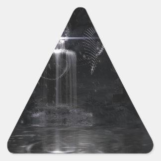 My wish on to wing BLACK Triangle Sticker