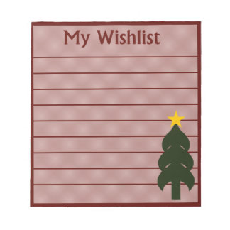 My Wishlist Notepad