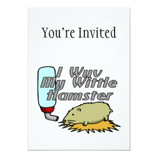 My Wittle Hamster 5x7 Paper Invitation Card