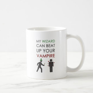 My Wizard Could Beat Up Your Vampire Classic White Coffee Mug