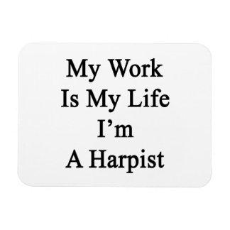 My Work Is My Life I'm A Harpist Rectangular Photo Magnet