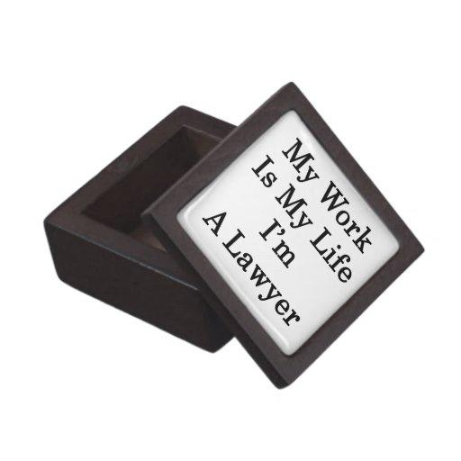 My Work Is My Life I'm A Lawyer Premium Jewelry Box