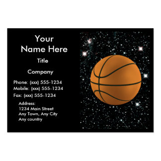 MY WORLD: BASKETBALL ~ LARGE BUSINESS CARDS (Pack OF 100)