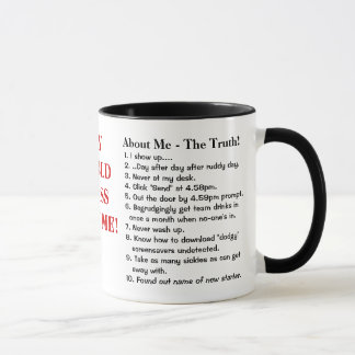 My World Class Resume! - Funny Job Resume Samples Mug