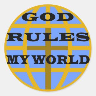 My World Classic Round Sticker