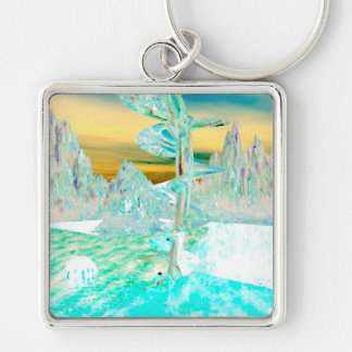 """My World""  CricketDiane Art and Design Keychain"