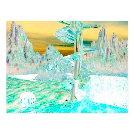 """My World""  CricketDiane Art and Design Postcards"