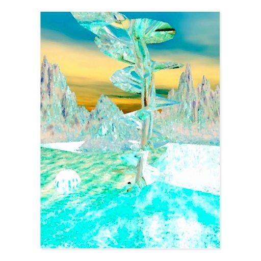 """My World""  CricketDiane Art and Design Postcard"