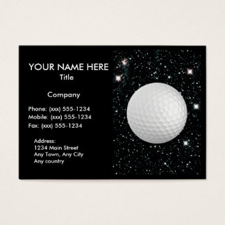 MY WORLD: GOLF (design for golf pro/instructor) ~ Business Card