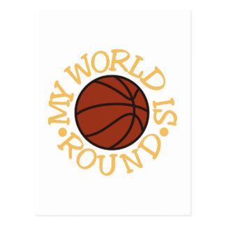 My World is Round Postcard