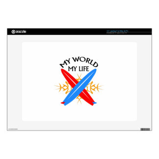 "My World My Life 15"" Laptop Skins"