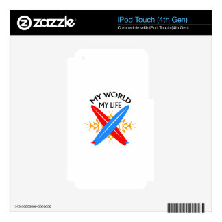 My World My Life iPod Touch 4G Skin