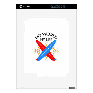 My World My Life Skin For iPad 2