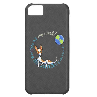 My World Red Rat Terrier Coal Cover For iPhone 5C