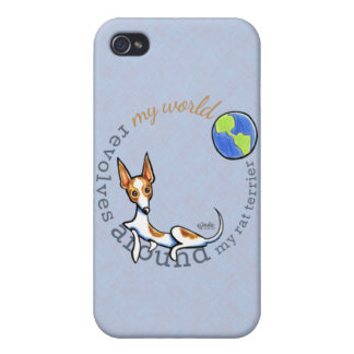 My World Red White Rat Terrier Case For iPhone 4