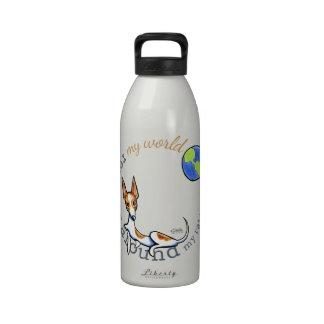 My World Red White Rat Terrier Drinking Bottle
