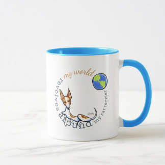 My World Red White Rat Terrier Mug