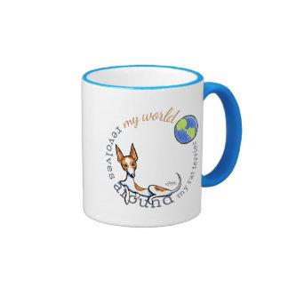 My World Red White Rat Terrier Coffee Mug