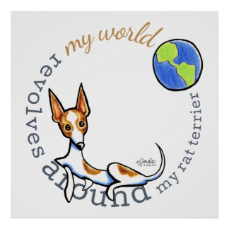 My World Red White Rat Terrier Poster