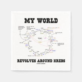 My World Revolves Around Krebs (Energy Cycle) Paper Napkin