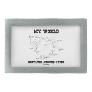 My World Revolves Around Krebs (Energy Cycle) Rectangular Belt Buckle