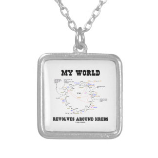 My World Revolves Around Krebs (Energy Cycle) Silver Plated Necklace