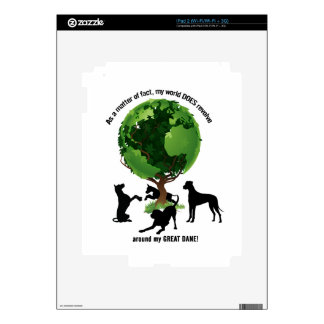My World Revolves Around My Great Dane Decal For iPad 2